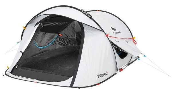 2 Seconds Fresh Black Camping Tent 2 Person Decathlon Pop Up Camping Tent Family Tent Camping Tent Camping