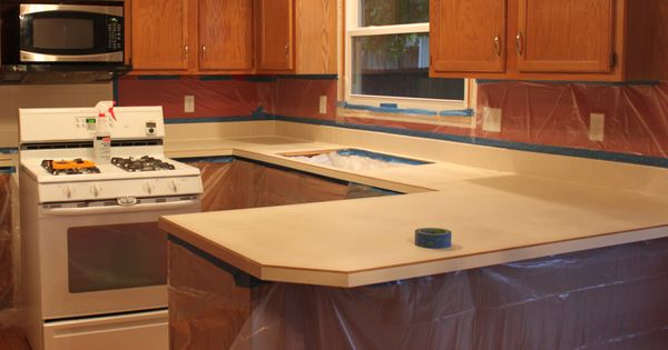 Kitchen worktop resurface diy crafts for Cheap kitchen worktop ideas