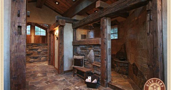 A Horse Stall Shower Rustic Dream Home Pinterest