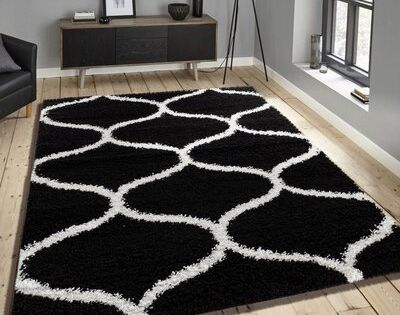 Ebern Designs Steverson Black Area Rug Rug Size Rectangle 1 10 X 2 11 Area Rugs Rug Size Rugs