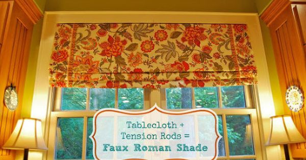 Make Your Own No Sew Faux Roman Shade Window Treatments