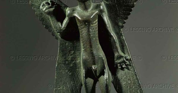 Assur bronze 10th 6th bce the demon god pazuzu an - Raging demon symbol ...