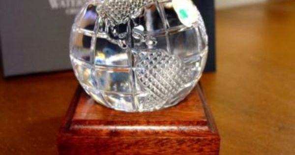 Waterford Crystal World Globe W Base New Waterford Crystal Waterford Baccarat Crystal