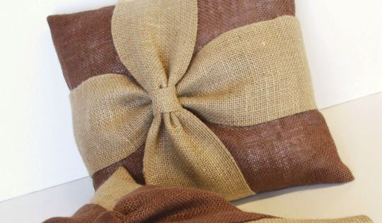 burlap pillow cover add a unique texture to your home