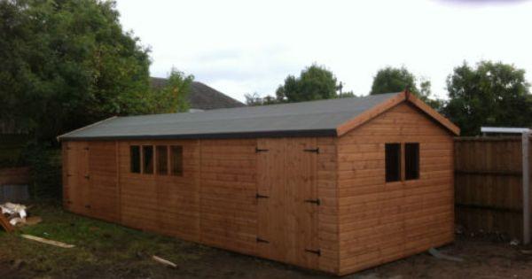 30x10 Wooden Shed Workshop Garage Heavy Duty Comes Standard With 1 Doorset Ebay Wooden Sheds Shed Wooden Garden