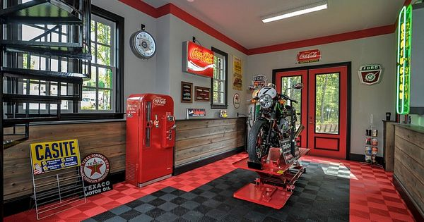 deco garage auto moto id es d 39 am nagement et styles vintage am ricain garage. Black Bedroom Furniture Sets. Home Design Ideas