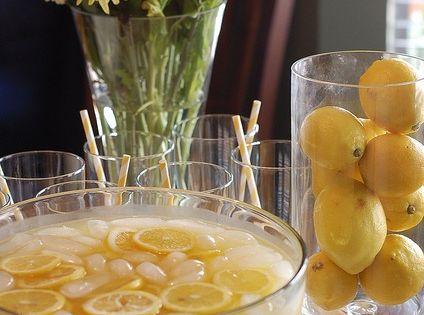 Pineapple lemonade punch: 1 cup Countrytime Lemonade mix, 2 cups cold water,