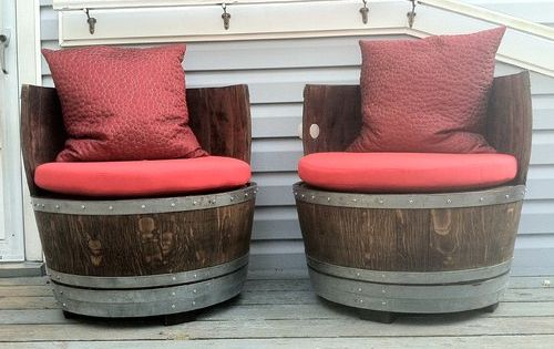 Two Round Seat Cushions From Cushionsource Com Were Made