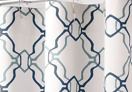 Lago Trellis Shower Curtain Crate And Barrel Curtains With