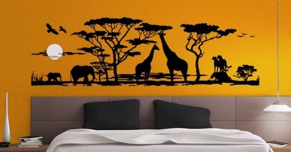 Grandora W683 Wandtattoo Afrika Savanne Tiere Wohnzimmer Https Www Amazon De Dp B00ie4fwc0 Ref Cm S Wandtattoo Afrika Malerei Wandgestaltungen Wand Dekor