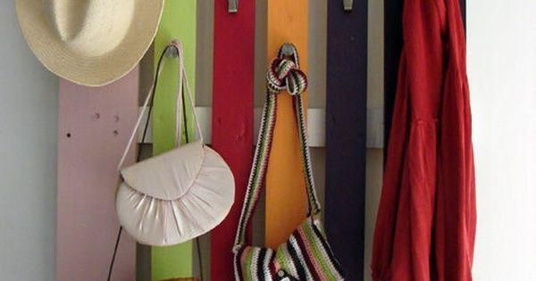 C mo hacer un perchero con un pal diy rack made with a - Reciclaje de pales ...