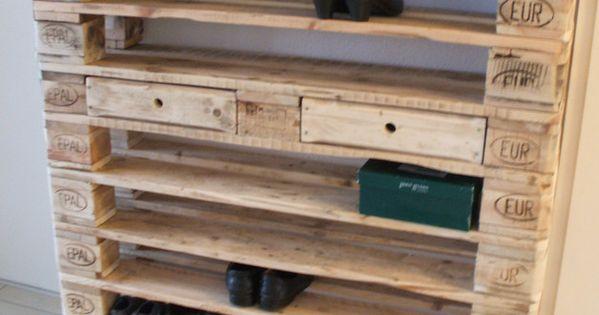 Xxl schuhregal aus paletten palets zapateras y tarimas for Schuhschrank aus paletten