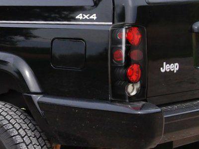 Jeep Cherokee 1997 2001 Black Custom Tail Lights Dielna