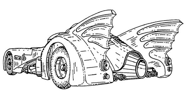 1989 Batmobile Blueprints Batmobile Hot Rods Coloring Pages
