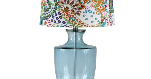 29 lenox table lamp blue glass love this lamp fun for Table 6 lenox