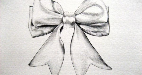 Cute Bow Tie Drawing ribbon bow draw...