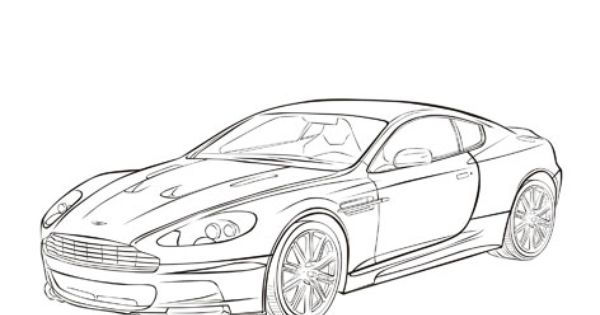 coloring pages of aston martins - photo#11