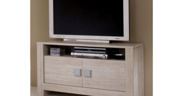 Meuble Tv Pisa Chene Blanchi Soho Meuble Rangement Meuble Chene Blanchi