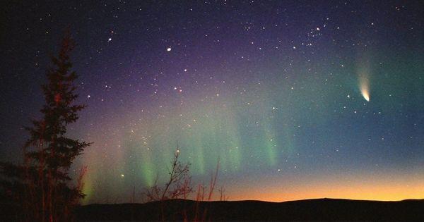 northern lights comet - photo #13