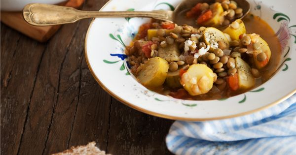 Zucchini Stew with Lentils   soups   Pinterest   Lentils, Stew and ...