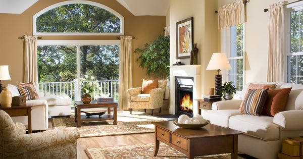 What A Warm Inviting Living Room Living Rooms