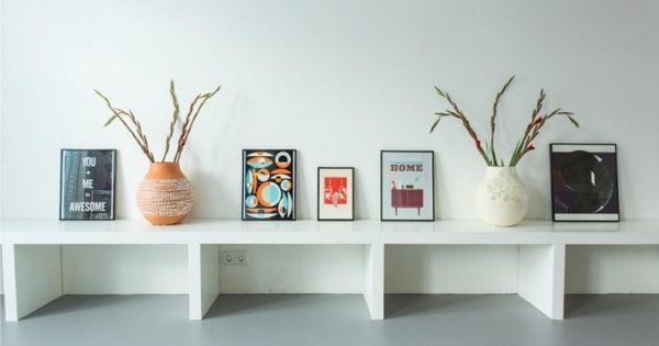 Grijze vloer en bank aan de muur woonkamer pinterest grijze vloer bank en muur - Grijze en rode muur ...