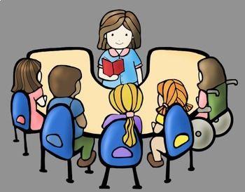 Guided Reading Kids Clip Art Bundle | Kids reading books, Guided reading,  Kids reading