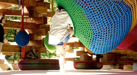 Crochet Playgrounds by Toshiko Horiuchi MacAdam (with engineers TIS & Partners and