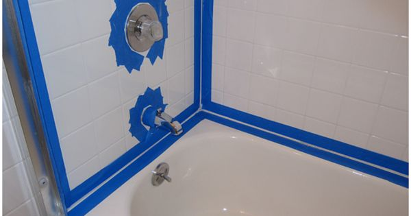 Cleaning And Recaulking Bathtub Surround Tiles With Black