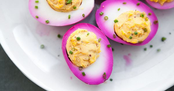 Colored Deviled Eggs