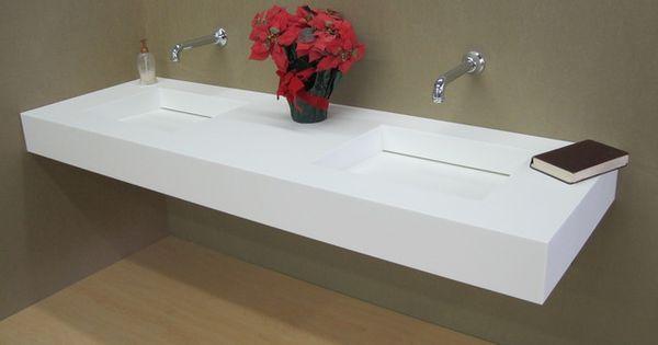 Corian 1 Piece Countertop Sink Combo Bath Pinterest Trough Sink Search And Sinks