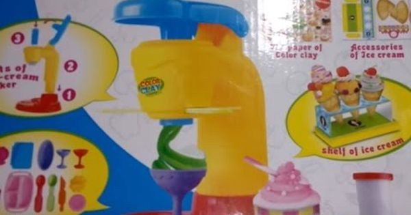 لعبة الصلصال الأيس كريم العاب الصلصال للاطفال العاب بنات و أولاد Ice Cream Clay Cream