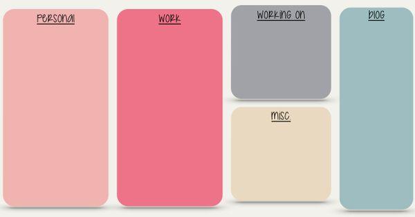 Pink grey Block colour desktop organizer wallpaper