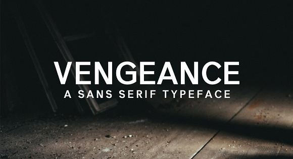 Vengeance sans serif font is a set of 5 weights and it is good for making creative displays and it has art-deco touch.