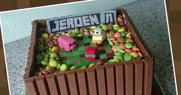 Kitkat Minecraft Taart Taart Pinterest Minecraft