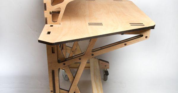 3d fabrication desk le bureau par peter borges bureau bois et mobilier. Black Bedroom Furniture Sets. Home Design Ideas