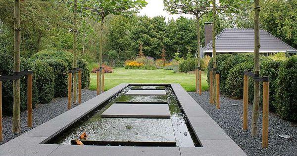 Teo van horssen tuinontwerp verhoogde vijver for Waterornament tuin