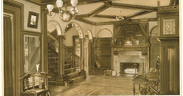 A Beautiful Reception Hall From Quot The Home Beautiful Quot 1915