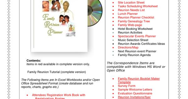 family reunion ideas free family reunion planner Genealogy