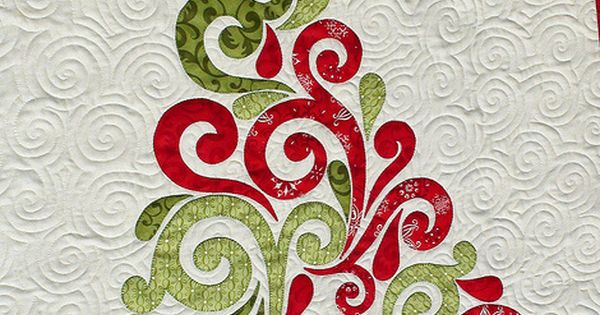 Christmas tree applique quilt.