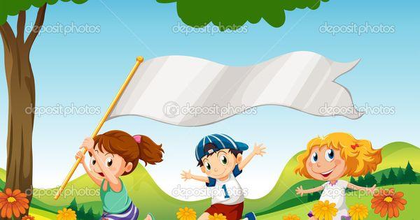 Dibujos De NiÑos Por Nacionalidades: Niños Corriendo Dibujo Animado
