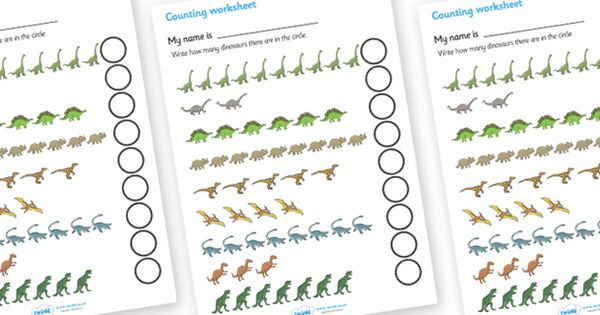 twinkl resources dinosaur counting worksheet classroom printables for pre school. Black Bedroom Furniture Sets. Home Design Ideas