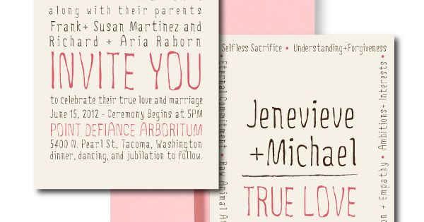 Art Pink Wedding Invitations, Blush Wedding Invitations, Cute Wedding Invitations light-pink-blush-and-cream