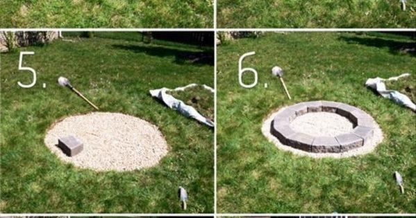 One method to build a backyard fire pit, DIY project.