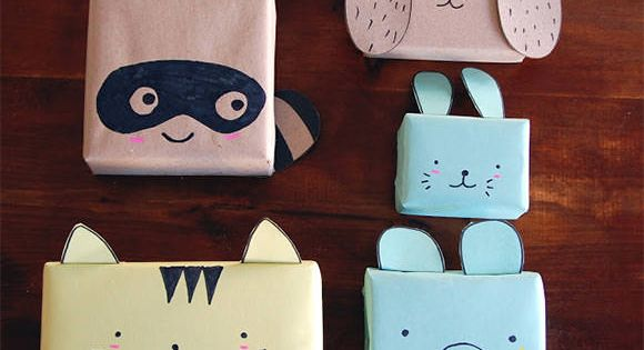 Great DIY idea - animal gift wrap! packaging