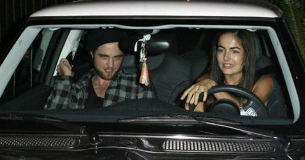 Camilla Belle And Robert Pattinson In The Mini Cooper Mini