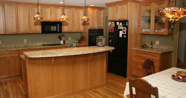 Furniture Light Wood Flooring Wood Kitchen Island Table With Raised Breakfas