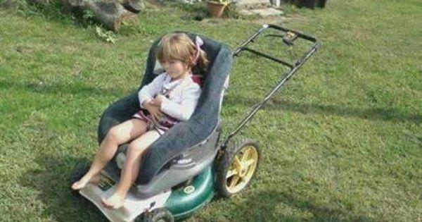 Reuse That Old Lawn Mower Amp Car Seat Lawnmowers