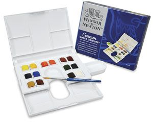 Winsor Newton Cotman Watercolors Compact Set Assorted Colors