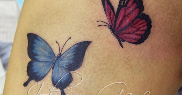 100 amazing butterfly tattoo designs tattoos on foot for Back mural tattoo designs